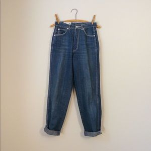 vintage 70s high waisted jeans workers distressed
